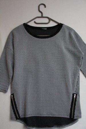 3/4-Arm Shirt mit Schachbrettmuster