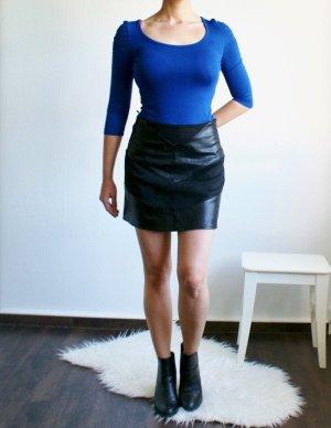 Amisu Camicia lunga blu-blu scuro