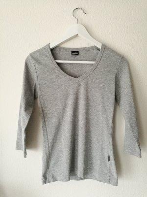 3/4 Arm Sweater grau melliert