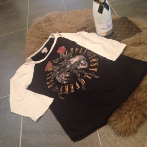 Denim & Supply Ralph Lauren Camisa larga negro-crema