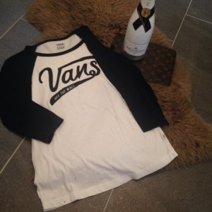 Vans Long Shirt white-black
