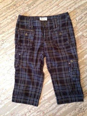 Esprit Pantalon en velours côtelé gris clair-brun foncé tissu mixte