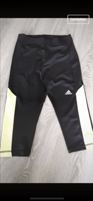 Adidas 3/4 Length Trousers black-neon yellow