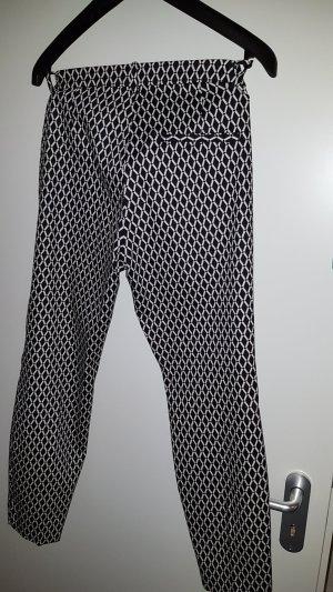 HM Pantalon blanc-noir