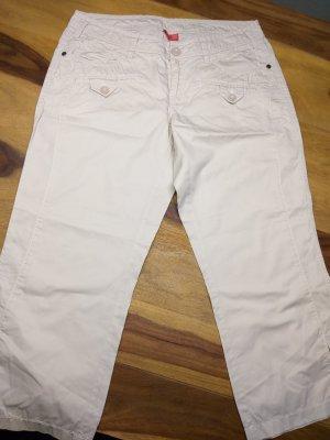 Esprit Pantalon 3/4 blanc cassé