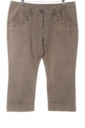 3/4 Length Trousers brown-camel glen check pattern casual look