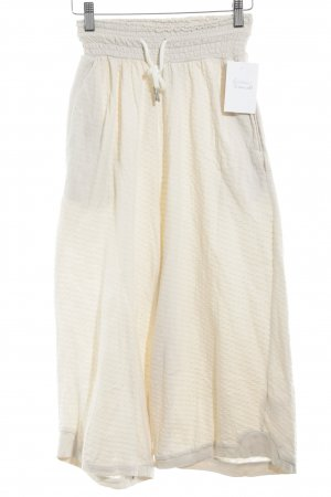 3/4 Length Trousers cream spot pattern fluffy
