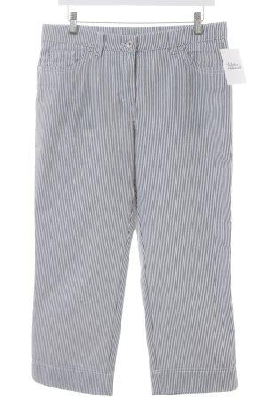 3/4-broek grijs-wit gestreept patroon klassieke stijl