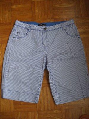 3/4 Hose im Holland Style blau weiß gestreif Gr 40