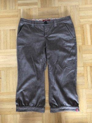 edc by Esprit 3/4 Length Trousers grey brown-black brown