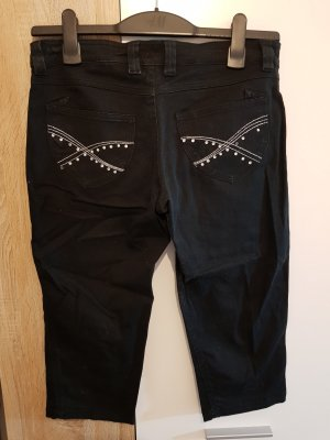 Pantalone a 3/4 nero-argento