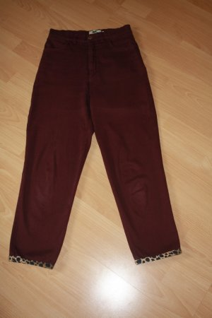 Pantalone peg-top bordeaux