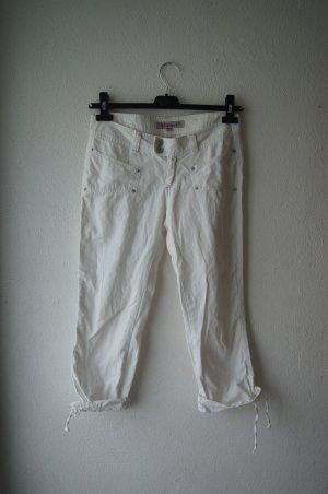 3/4 Hose von Madonna W27 Caprihose Shorts weiß Sommer