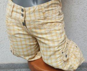 Timezone Pantalon 7/8 jaune clair-blanc