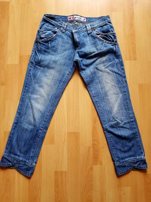 Jeans 3/4 bleu