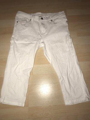 Jeans a 3/4 bianco-bianco sporco
