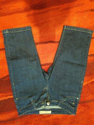 Amisu 3/4-jeans blauw-donkerblauw Katoen