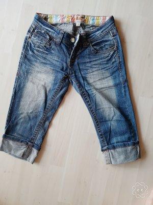 3/4 Jeans Hose Fishbone