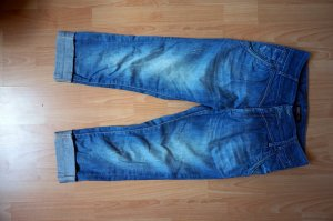 Only Pantalon 3/4 bleu-bleu foncé coton