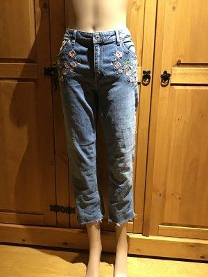 H&M Jeans a 3/4 azzurro-rosa pallido