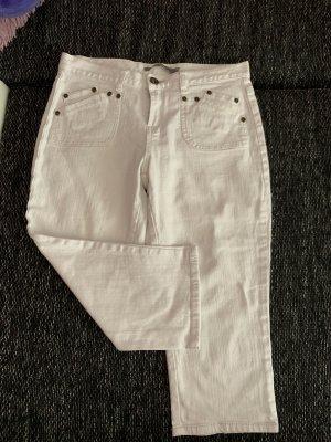 3/4-jeans wit Katoen