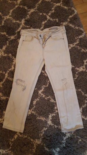 Cross 3/4-jeans wit-lichtgrijs