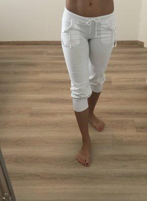 3/4 lange weiße  Sporthose
