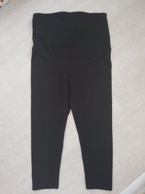 H&M Pantalon 3/4 noir tissu mixte