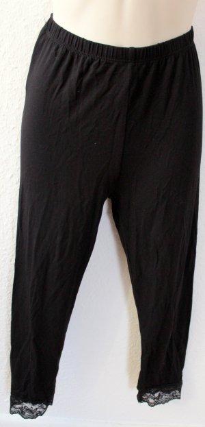 Amisu Leggings negro tejido mezclado