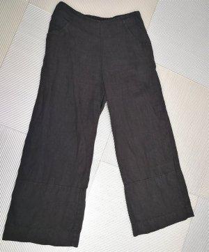 Silkroad Pantalón pirata negro Lino