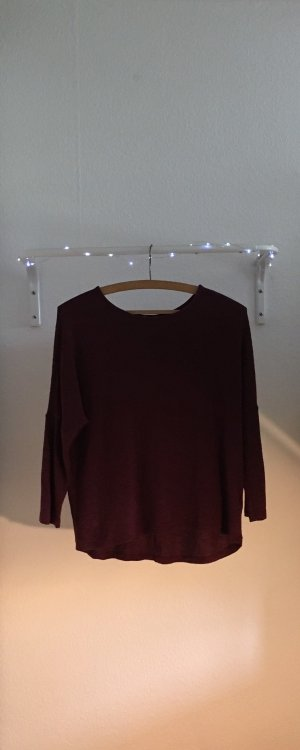 H&M Sweater met korte mouwen bordeaux-braambesrood