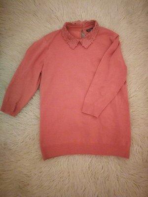 3/4 Pullover mit Spitzenkragen