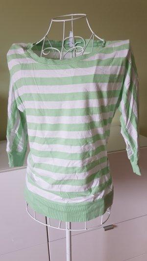 Fishbone Stripe Shirt white-green