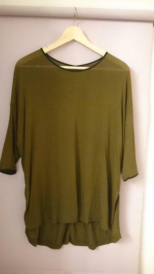 3/4 Shirt, olive grün