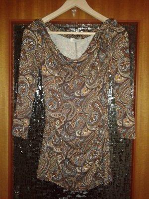 3/4 Shirt Paisleymuster Aniston neu braun/bunt Gr.36