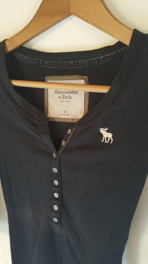 Abercrombie & Fitch V-Neck Shirt dark blue
