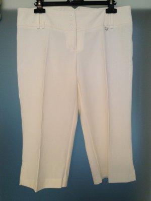 Pantalón pirata blanco puro tejido mezclado