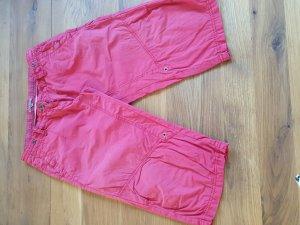 Soccx Pantalon 3/4 rouge coton