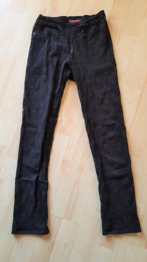 3/4 Length Trousers black synthetic