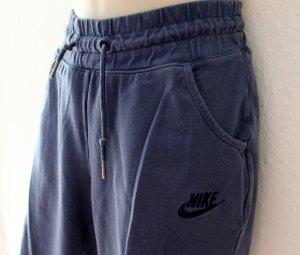 Nike Pantalone da ginnastica blu acciaio Tessuto misto