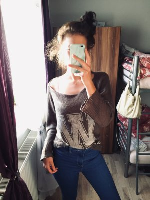 Sweater met korte mouwen brons