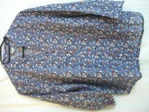 Blouse à enfiler gris ardoise-blanc coton