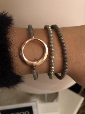 3 Armbänder-Neu- grau rosegold Armband