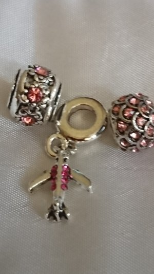Charm silver-colored-pink