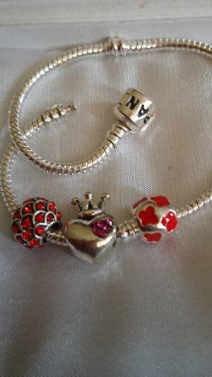 3 Charm /Beads /Herz /Krone /love für alle Marken Armbänder
