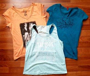 3 coole shirts gr.s ein preis