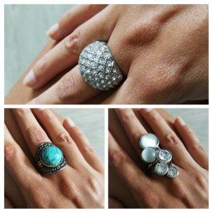 3 er Set ausgefallener Ringe