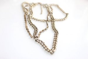 Link Chain gold-colored-white