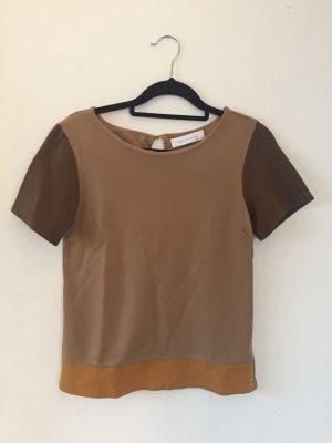 3 färbiges Shirt in erdtönen