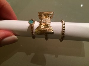 3 falschgold Ringe M